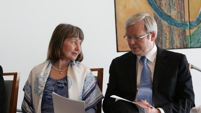 KRudd and sister